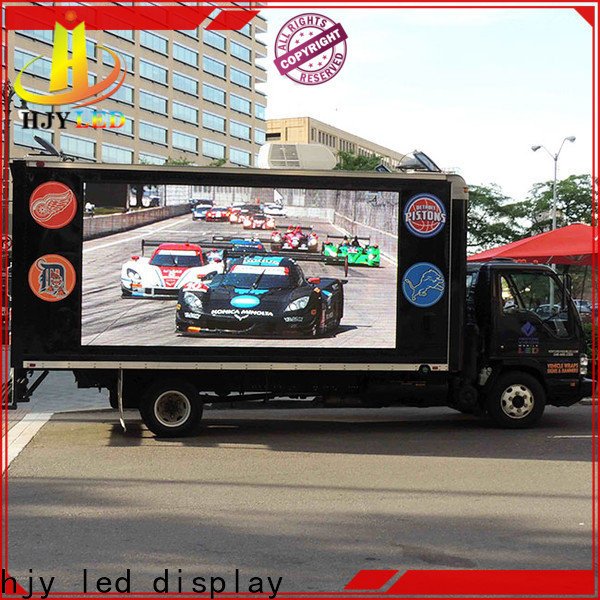 Haojingyuan p3 truck mobile led display Supply for for house