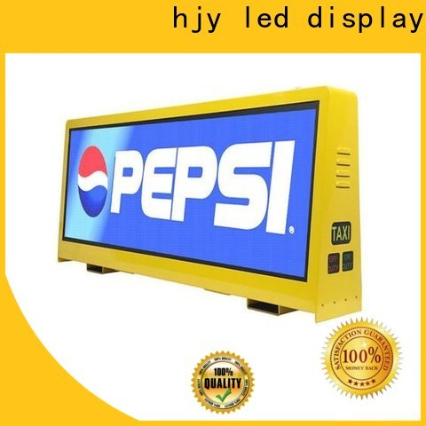 Haojingyuan brightness taxi top led display factory for shopping mall