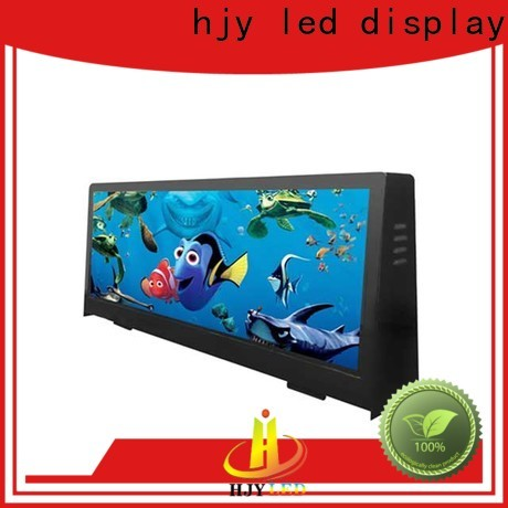 Haojingyuan Latest taxi top led display Supply for restaurant