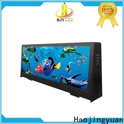 Haojingyuan Best taxi led display company for shopping mall