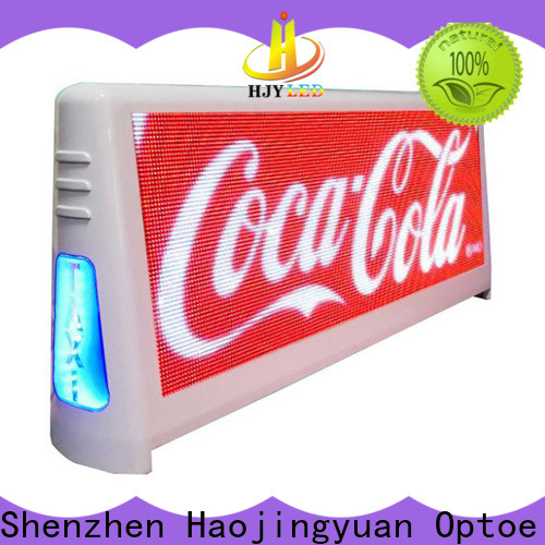 Haojingyuan display taxi top led display Supply for restaurant
