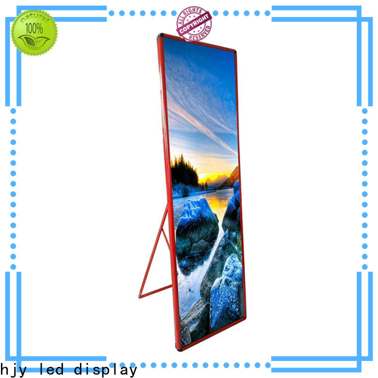 Haojingyuan Latest poster led display factory for street
