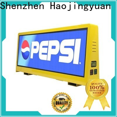 Haojingyuan Top taxi top led display for business for wedding