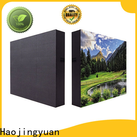 Haojingyuan board advertising led display fixed factory for school