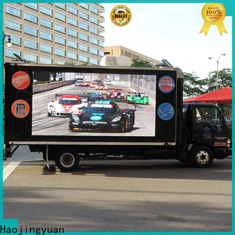 Haojingyuan p3 truck mobile led display factory for birthday party