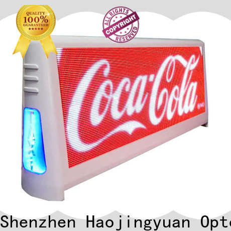 New taxi top led display top manufacturers for restaurant