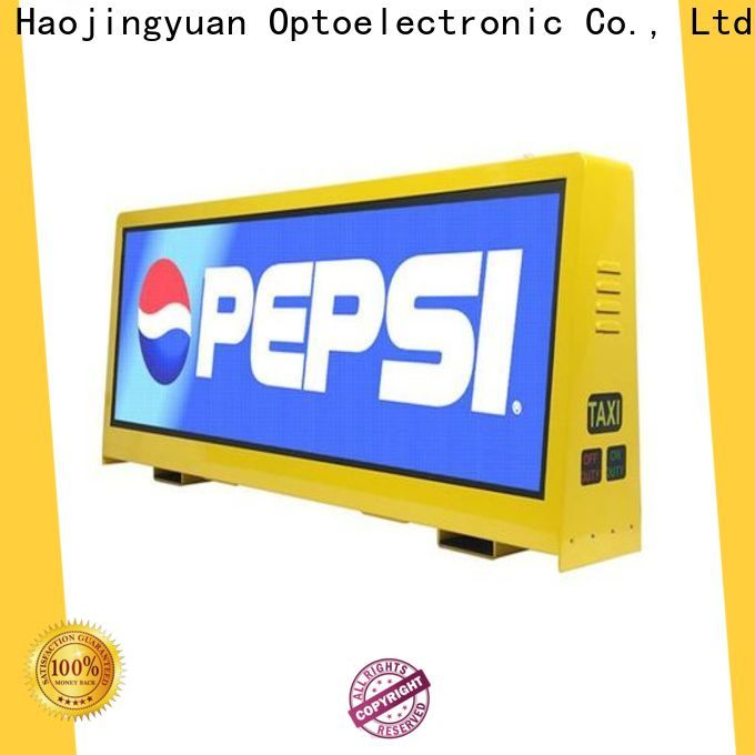 Haojingyuan High-quality taxi top led display company for restaurant