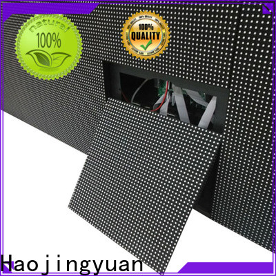 Haojingyuan Top building large led matrix display for business for lobby