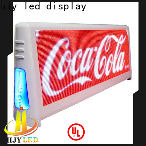 Haojingyuan New led taxi top company for restaurant