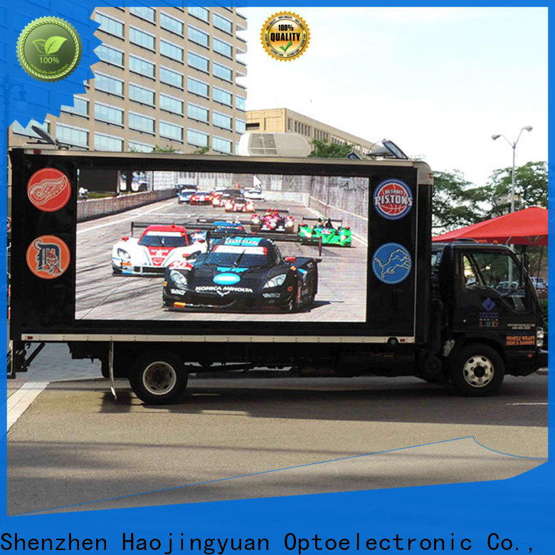Haojingyuan Custom truck mobile led display factory for birthday party