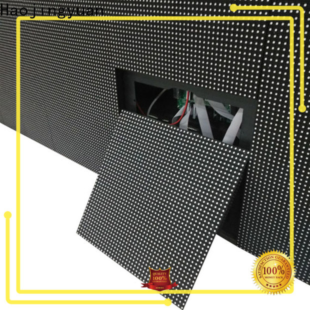 Haojingyuan Wholesale building large led matrix display factory for lobby