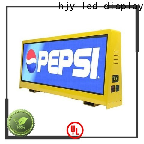 Haojingyuan led taxi sign company for shopping mall