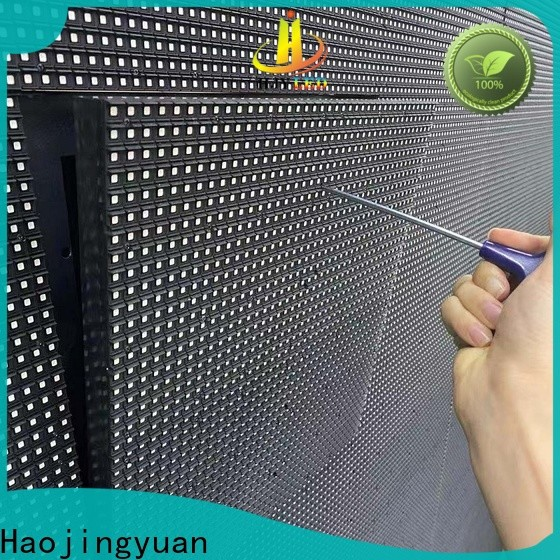 Haojingyuan outdoor led display Suppliers for school