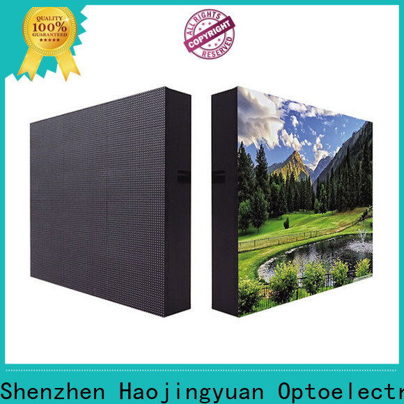 Haojingyuan building led display panel manufacturers for lobby