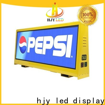 Latest taxi top led display company for shopping mall