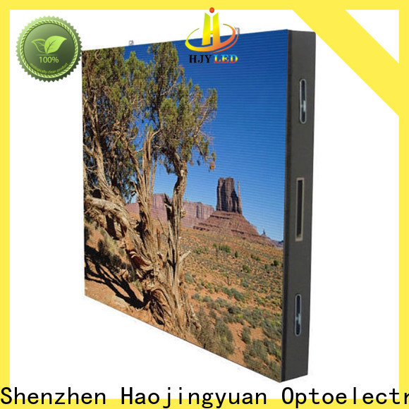 Haojingyuan indoor led display for business for lobby