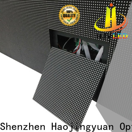 Haojingyuan New building large led matrix display manufacturers for lobby