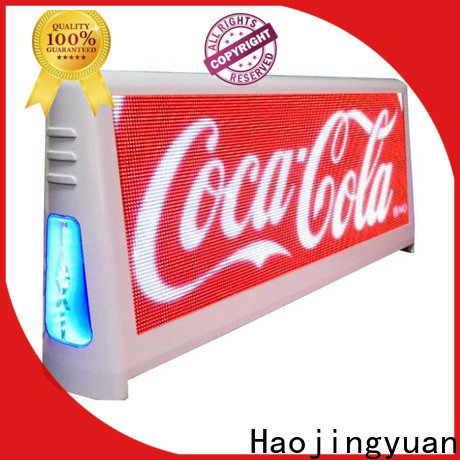 Haojingyuan High-quality taxi roof sign manufacturers for shopping mall