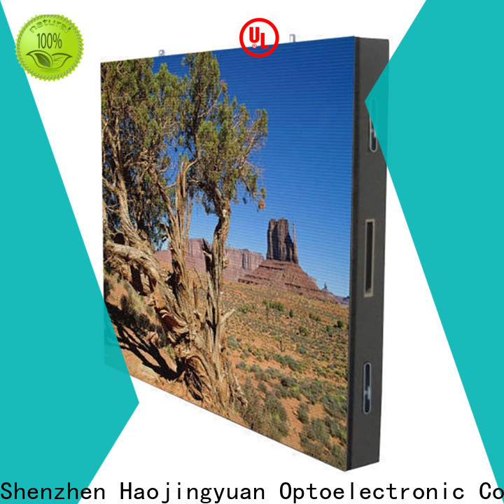 Haojingyuan Custom indoor led display Supply for hotels