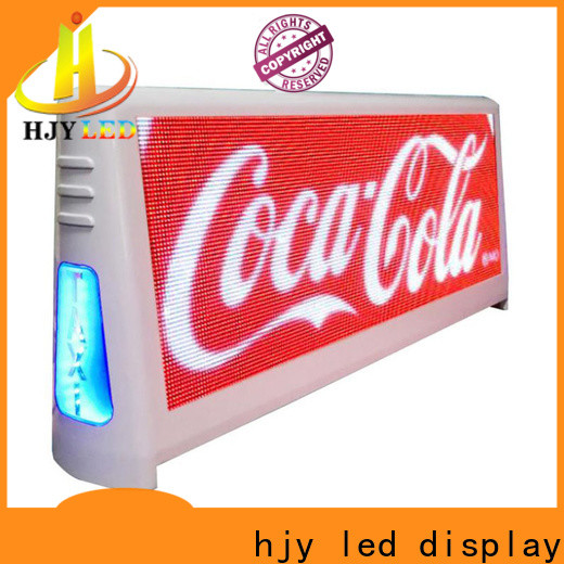 Haojingyuan led taxi sign factory for wedding