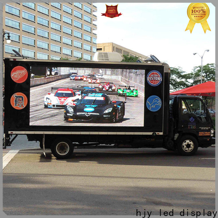 Haojingyuan Best truck led display company for for house