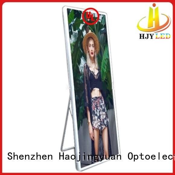 Haojingyuan waterproof Mirror led display advanced technology for street