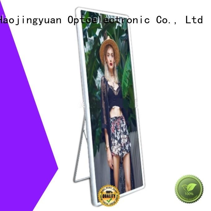 Haojingyuan led poster led display manufacturer for air port