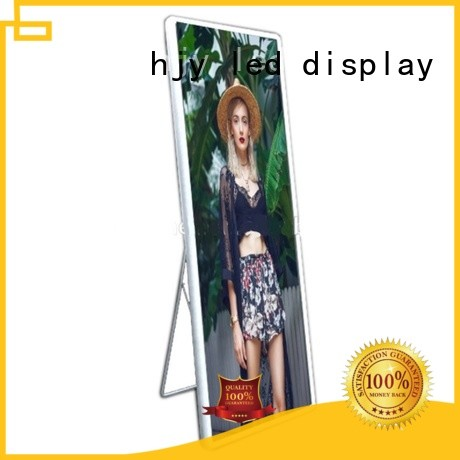 Haojingyuan advertising Mirror led display lightweight for street