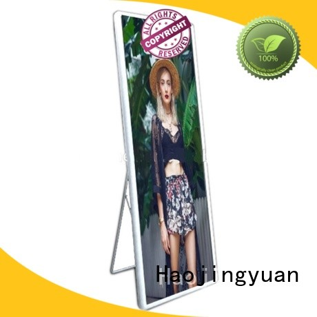 high quality Mirror led display poster lightweight for street